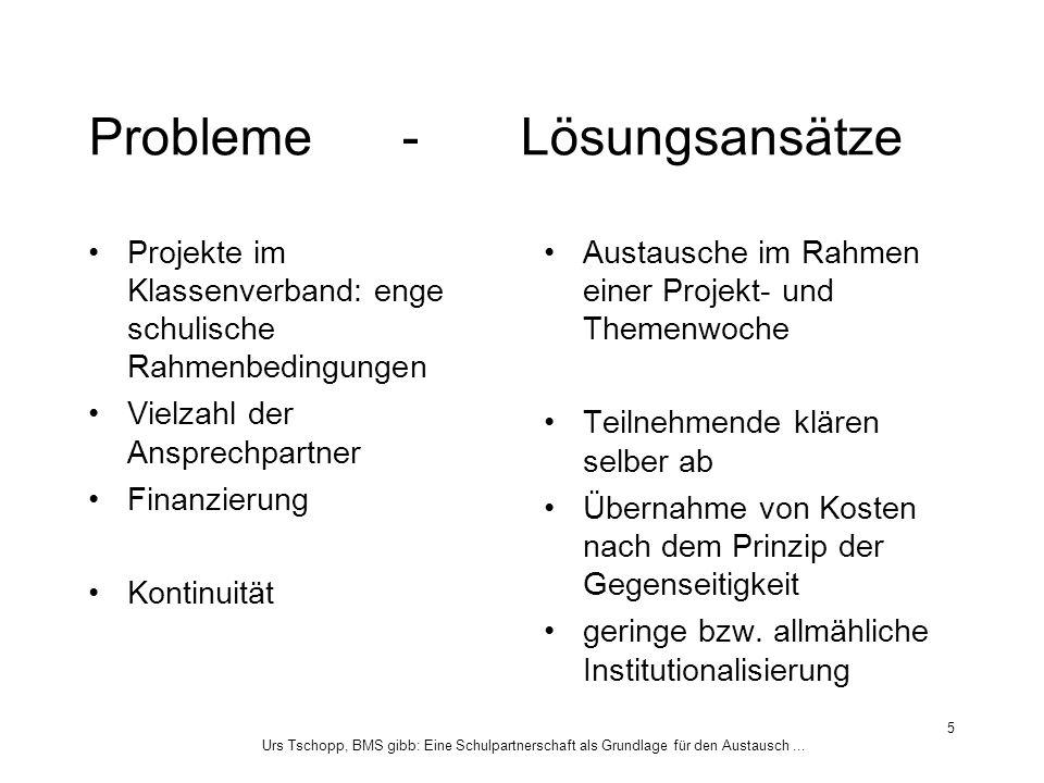 Probleme - Lösungsansätze