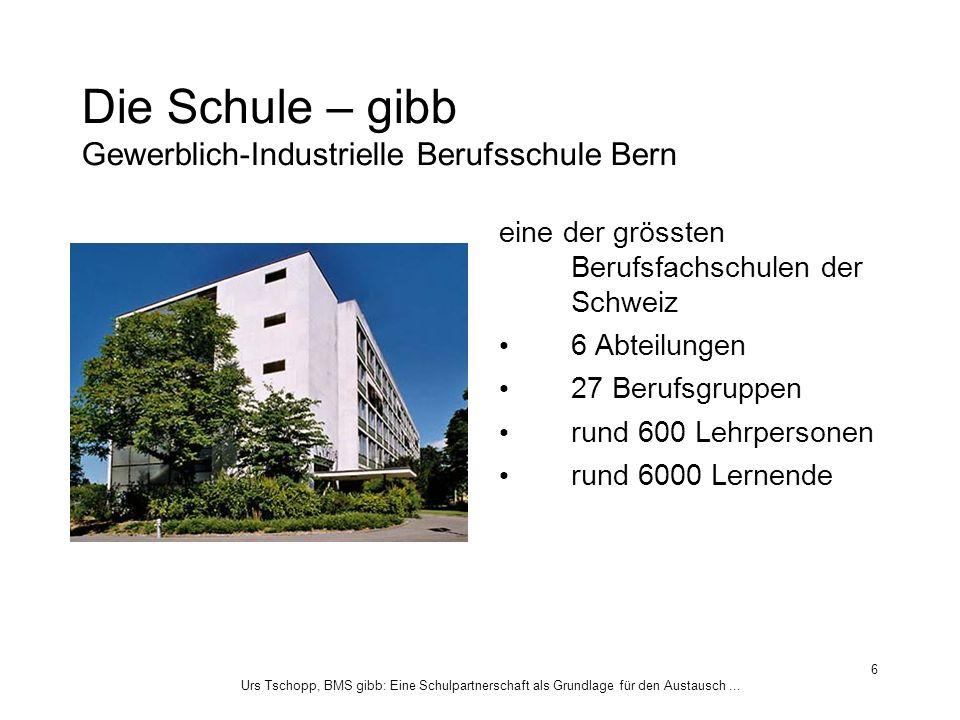 Die Schule – gibb Gewerblich-Industrielle Berufsschule Bern