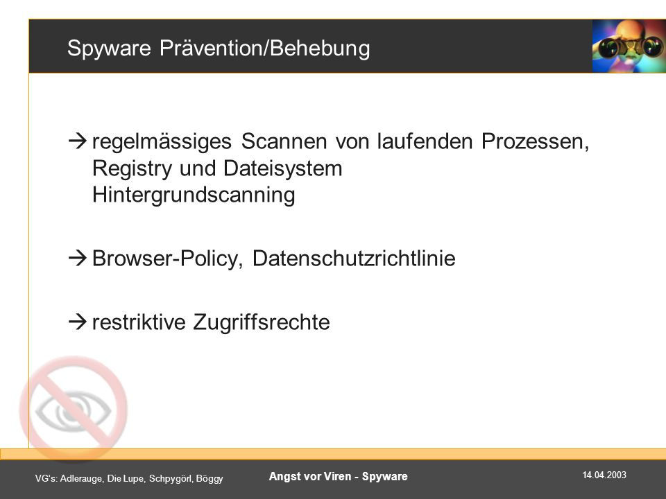 Spyware Prävention/Behebung