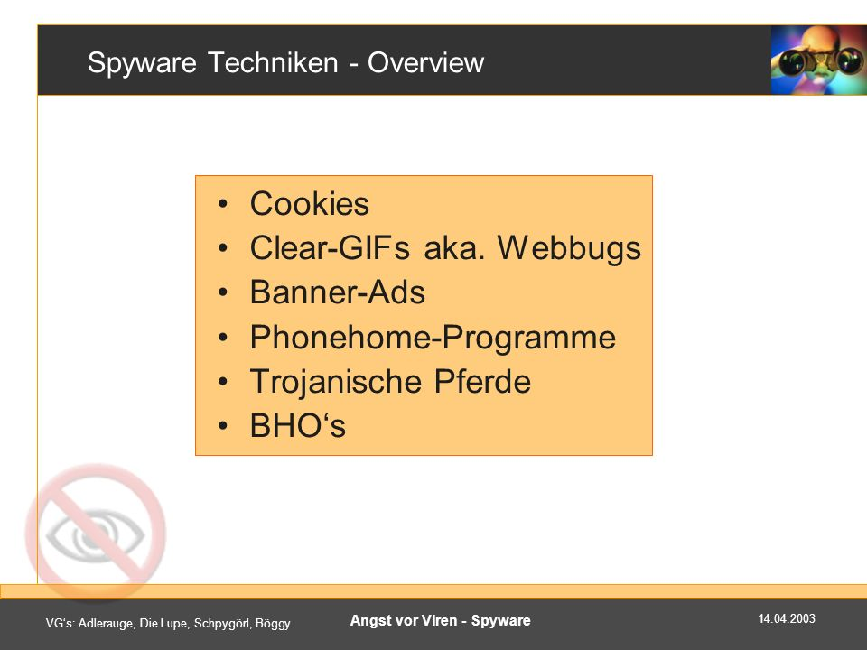 Spyware Techniken - Overview
