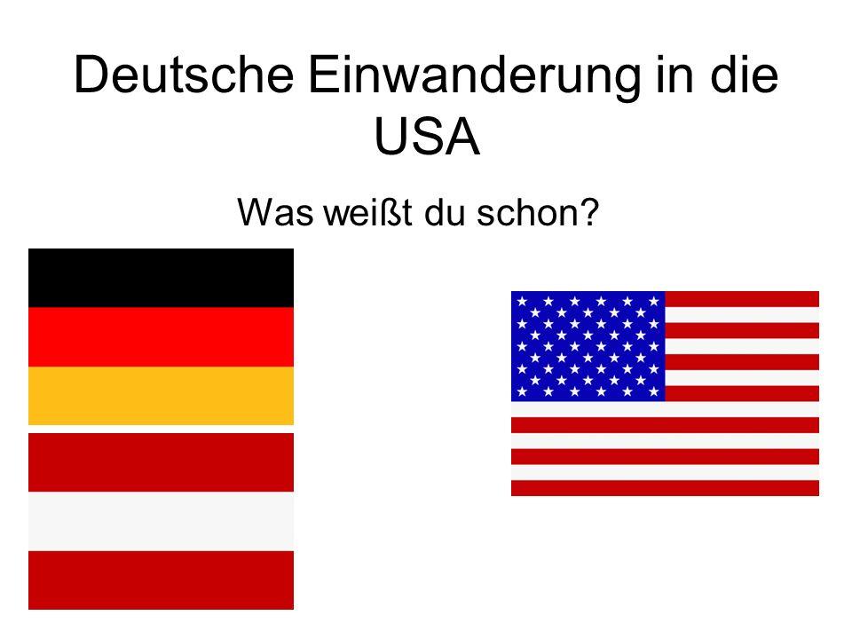 Deutsche Einwanderung in die USA