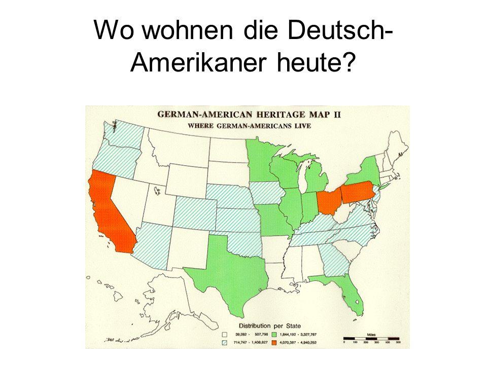 Wo wohnen die Deutsch-Amerikaner heute