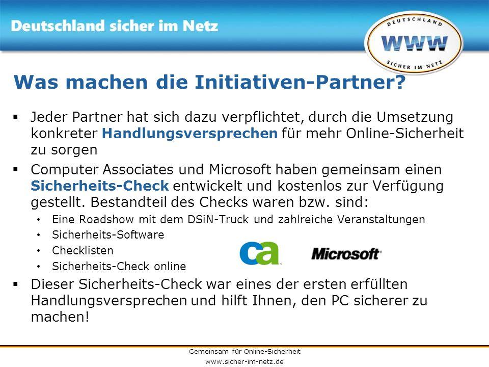 Was machen die Initiativen-Partner