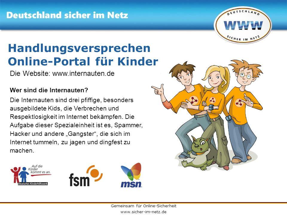 Handlungsversprechen Online-Portal für Kinder