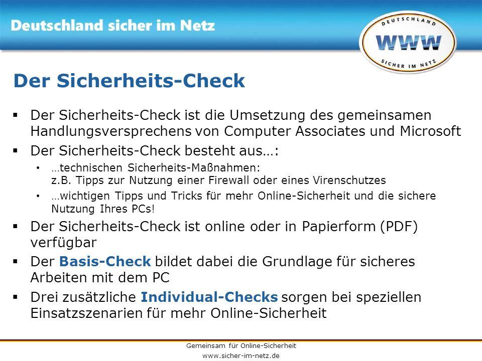 Der Sicherheits-Check
