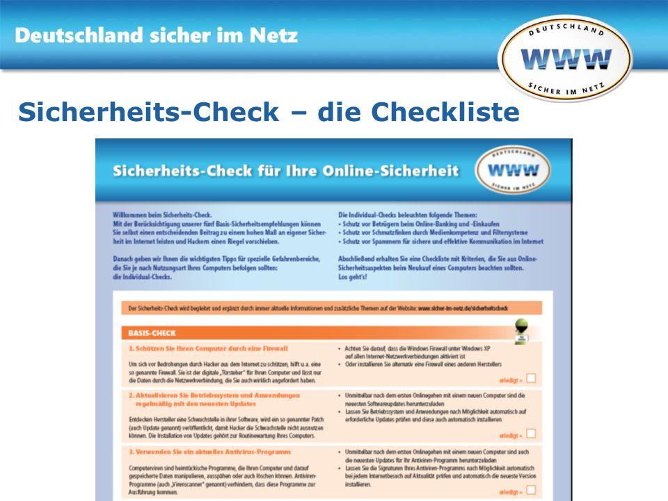Sicherheits-Check – die Checkliste