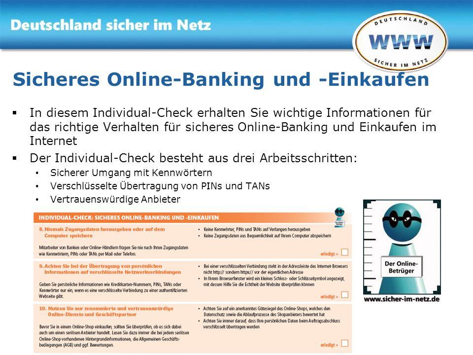 Sicheres Online-Banking und -Einkaufen