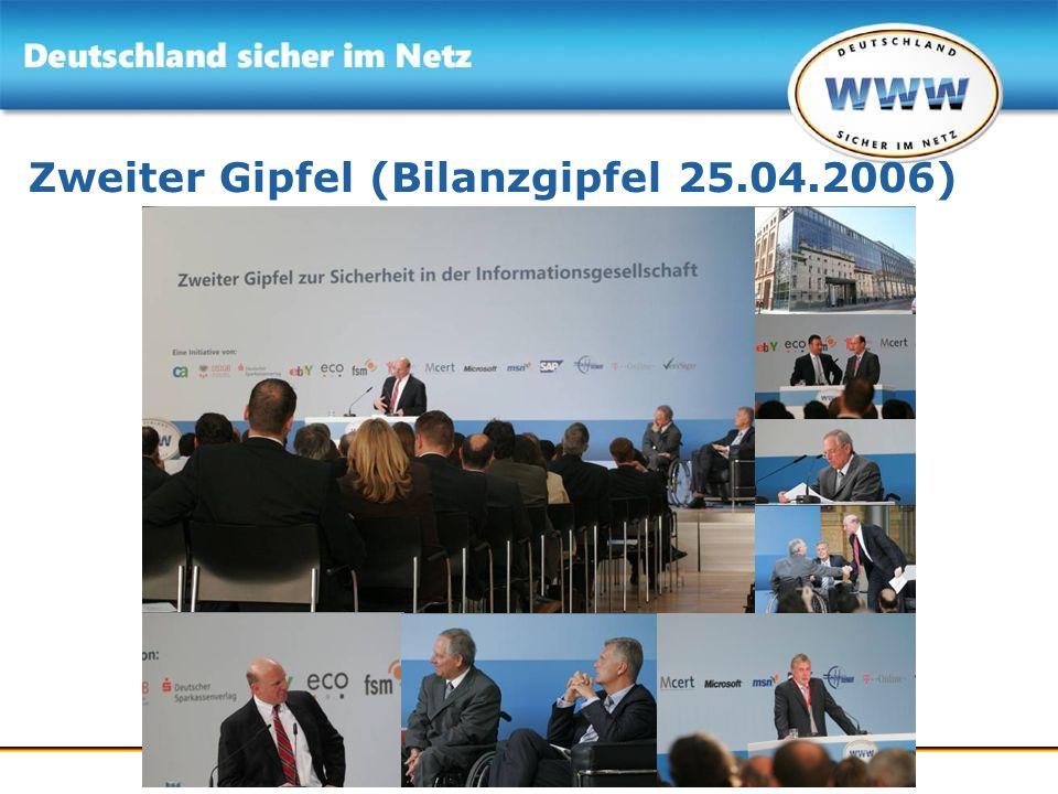 Zweiter Gipfel (Bilanzgipfel 25.04.2006)