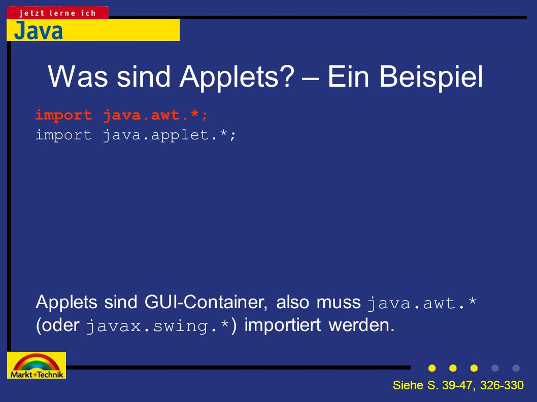 Was sind Applets – Ein Beispiel