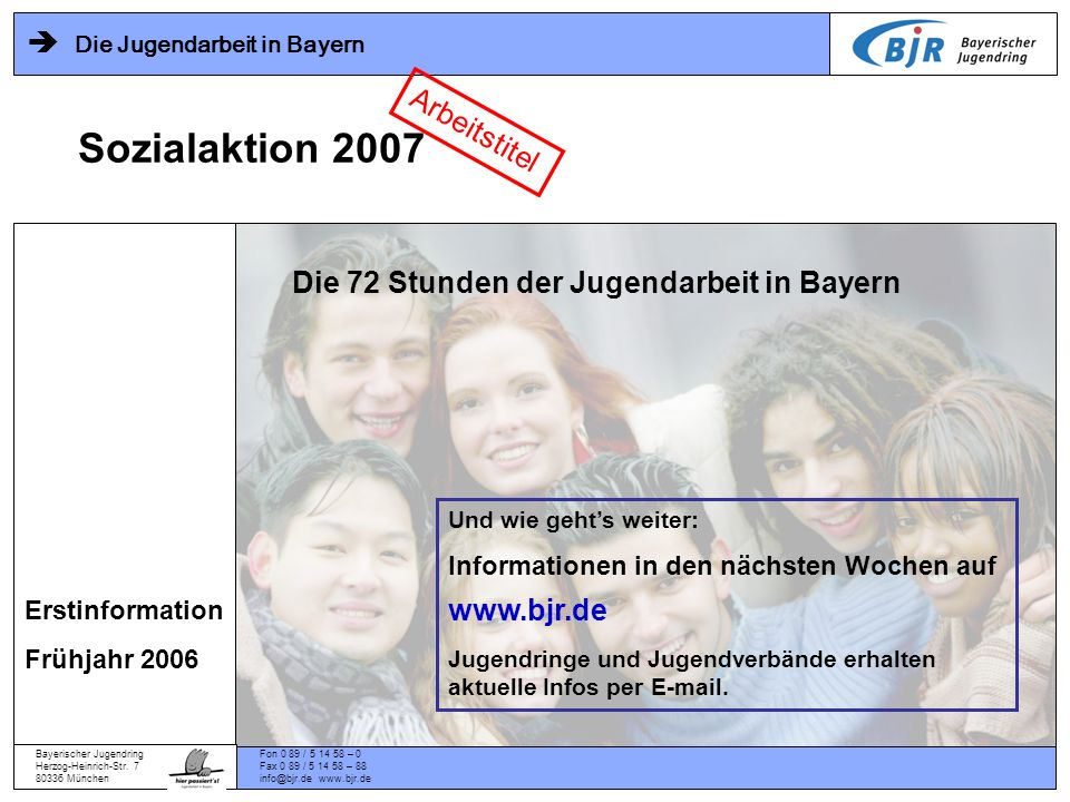 Die 72 Stunden der Jugendarbeit in Bayern