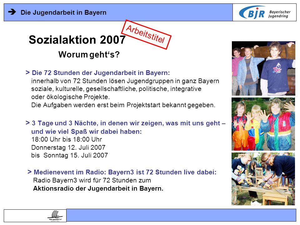Sozialaktion 2007 Arbeitstitel Worum geht's