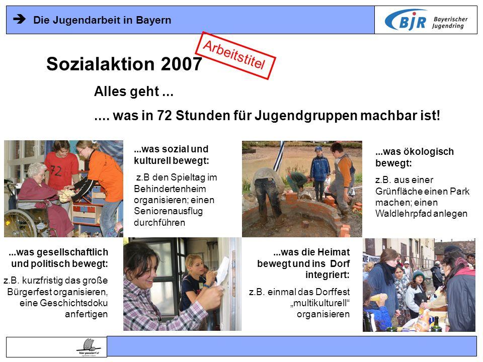 Sozialaktion 2007 Arbeitstitel Alles geht ...