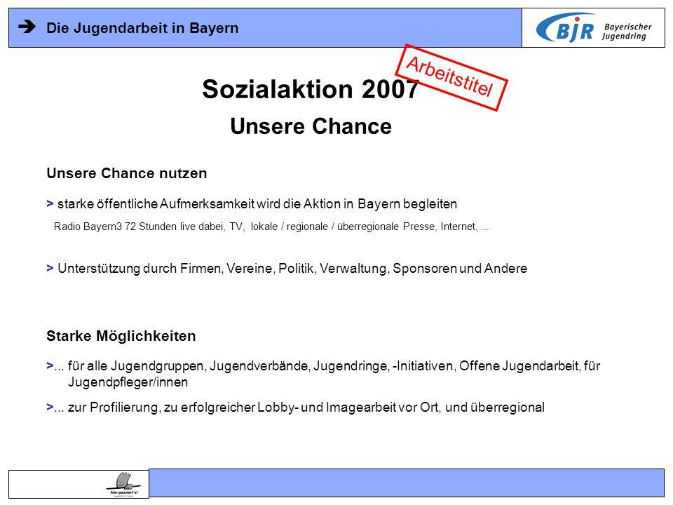 Sozialaktion 2007 Unsere Chance Arbeitstitel Unsere Chance nutzen