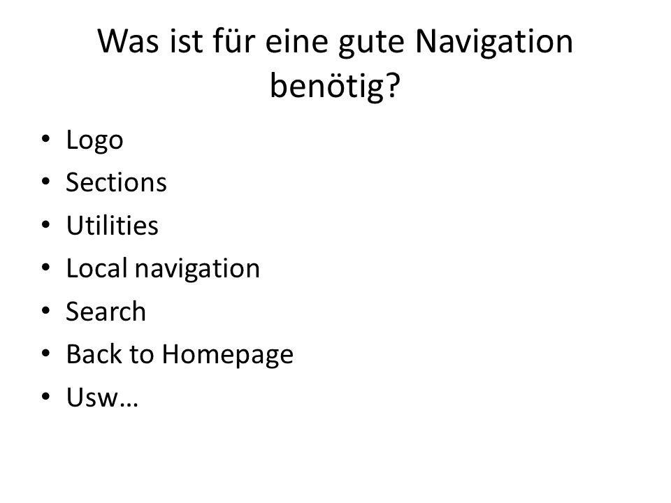 Was ist für eine gute Navigation benötig