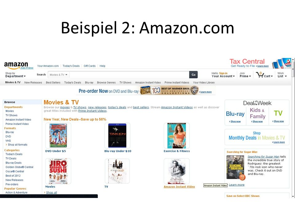 Beispiel 2: Amazon.com