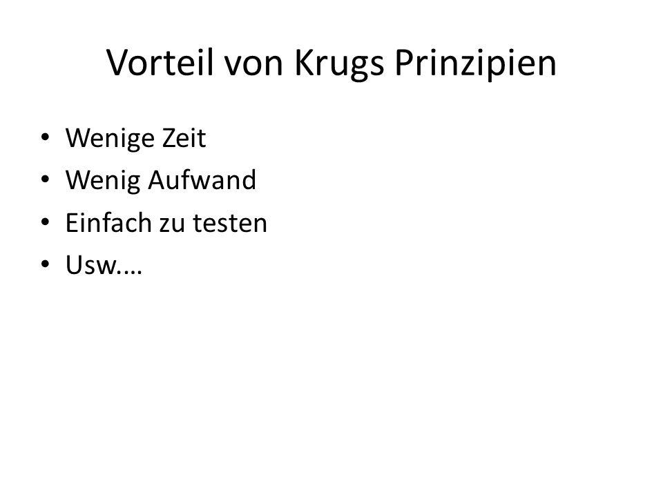 Vorteil von Krugs Prinzipien