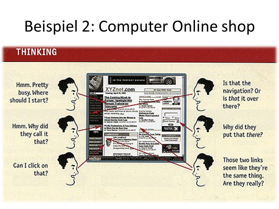 Beispiel 2: Computer Online shop