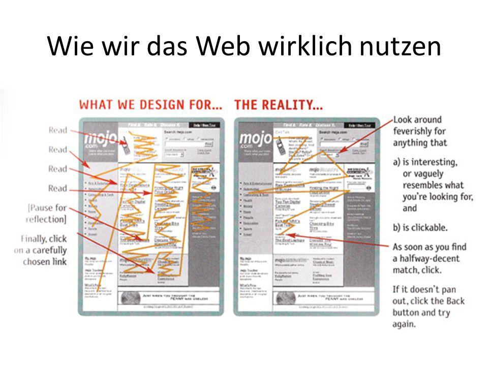 Wie wir das Web wirklich nutzen