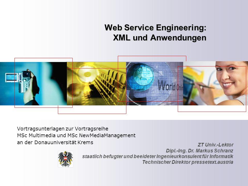 Web Service Engineering: XML und Anwendungen
