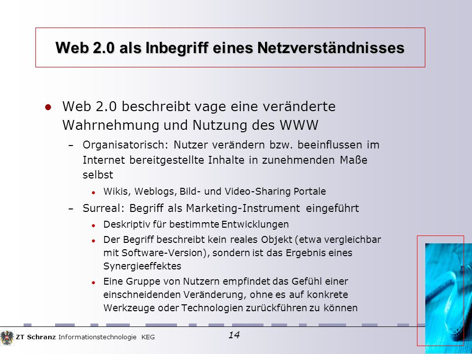Web 2.0 als Inbegriff eines Netzverständnisses