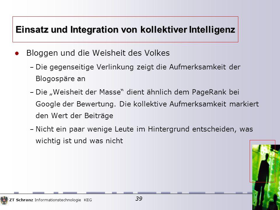 Einsatz und Integration von kollektiver Intelligenz