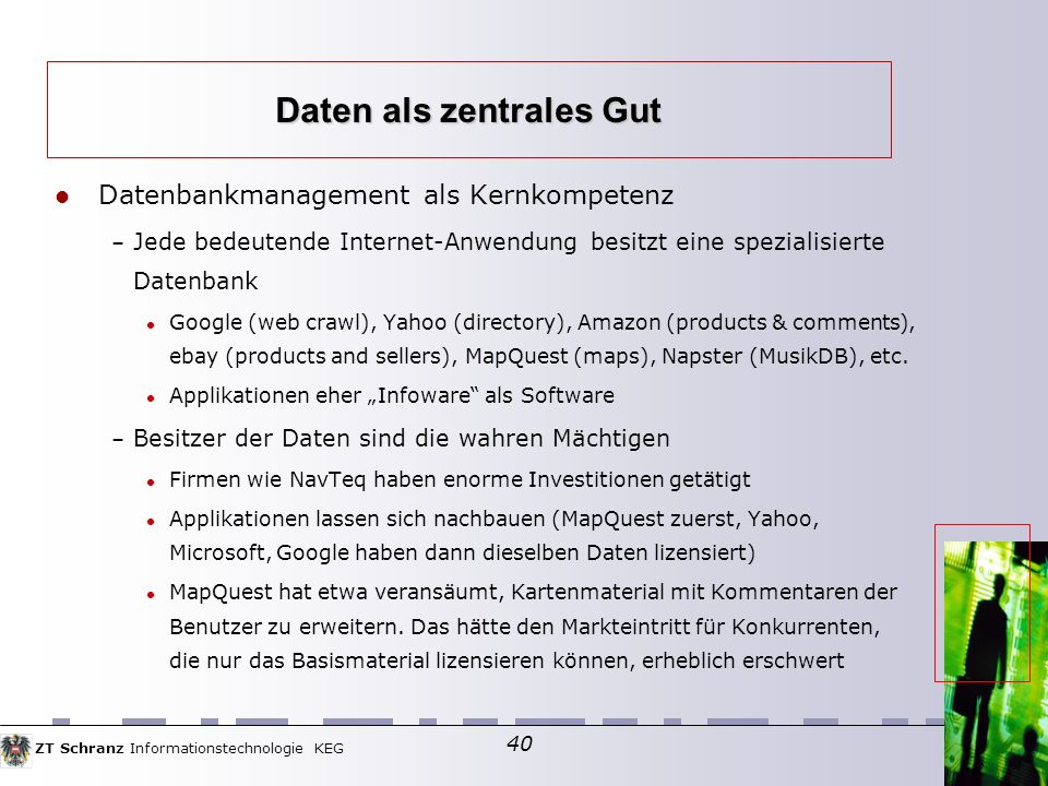 Daten als zentrales Gut