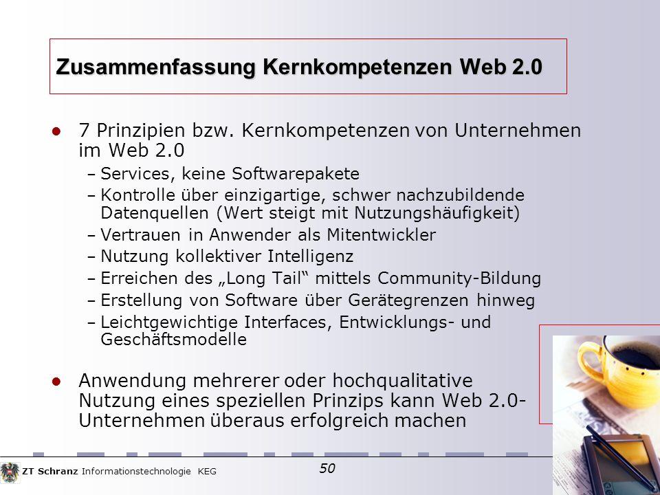 Zusammenfassung Kernkompetenzen Web 2.0