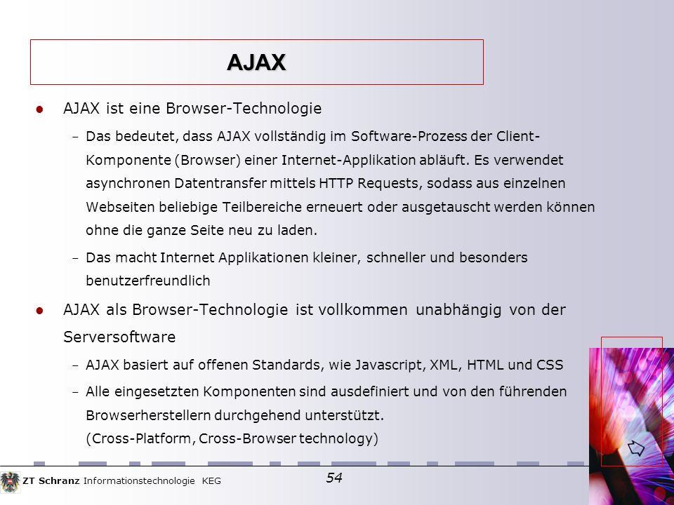 AJAX AJAX ist eine Browser-Technologie
