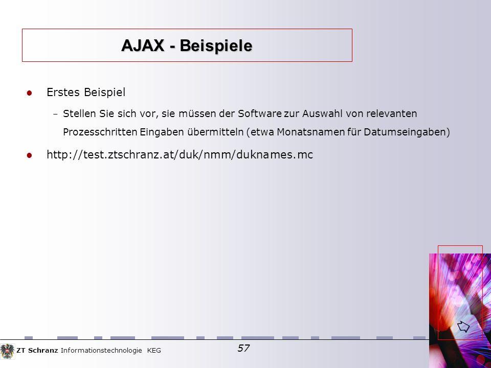 AJAX - Beispiele Erstes Beispiel