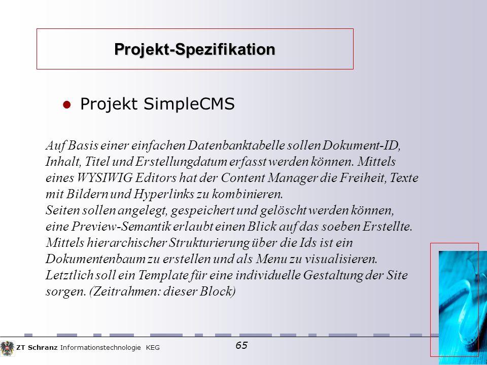 Projekt-Spezifikation