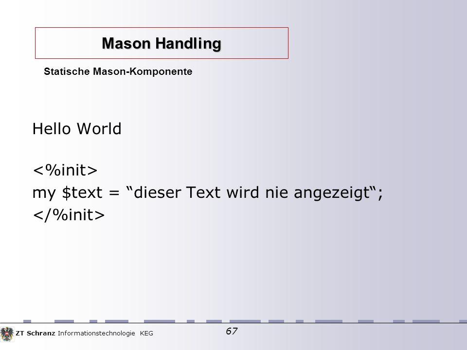 Statische Mason-Komponente