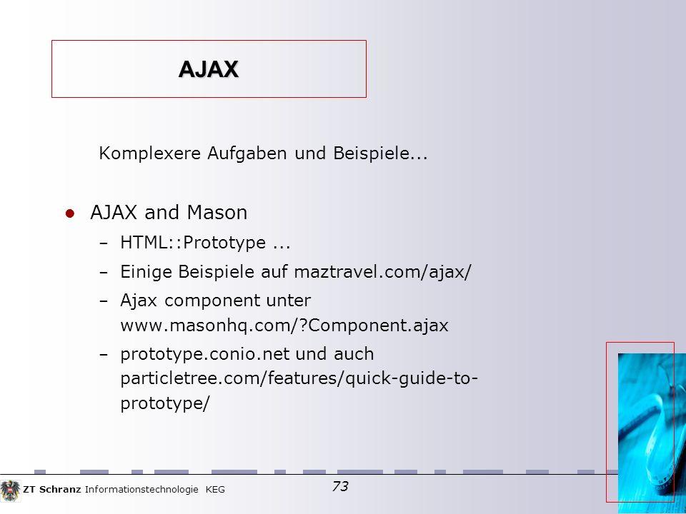 AJAX AJAX and Mason Komplexere Aufgaben und Beispiele...