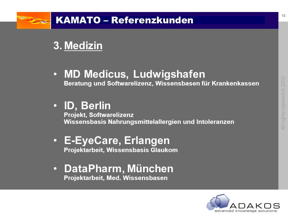 KAMATO – Referenzkunden