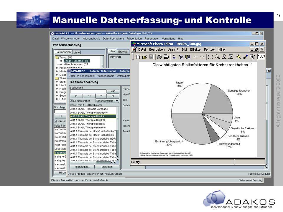 Manuelle Datenerfassung- und Kontrolle