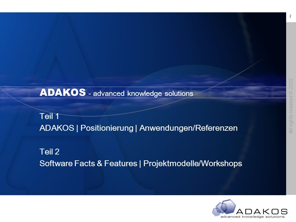 ADAKOS - advanced knowledge solutions