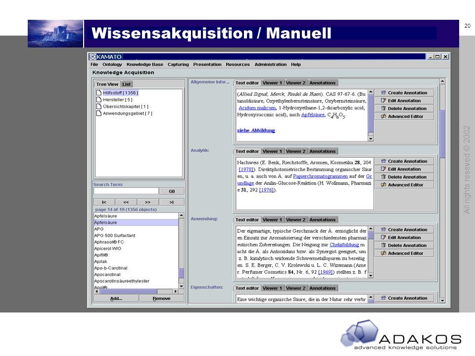 Wissensakquisition / Manuell