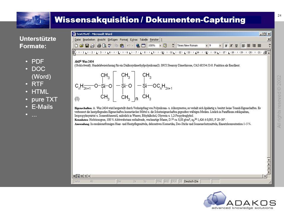 Wissensakquisition / Dokumenten-Capturing