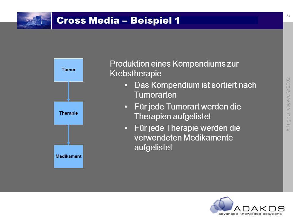 Cross Media – Beispiel 1 Tumor. Therapie. Medikament. Produktion eines Kompendiums zur Krebstherapie.