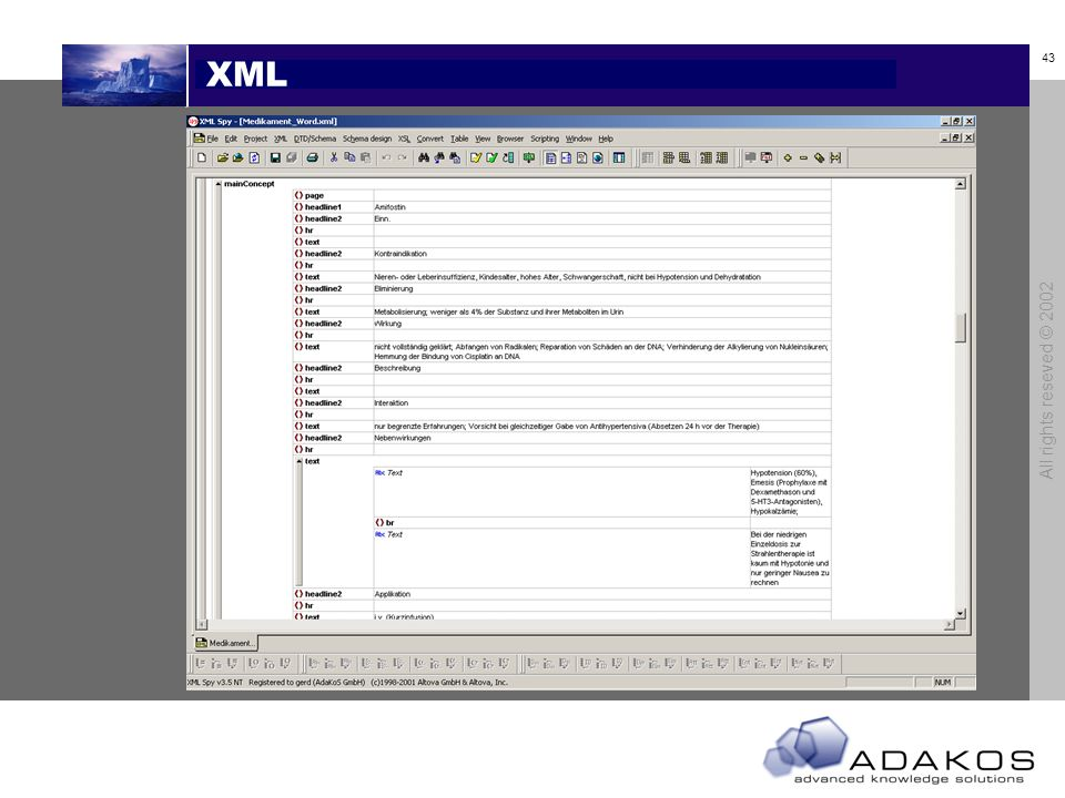 XML All rights reseved © 2002