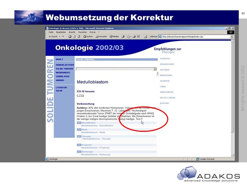 Webumsetzung der Korrektur