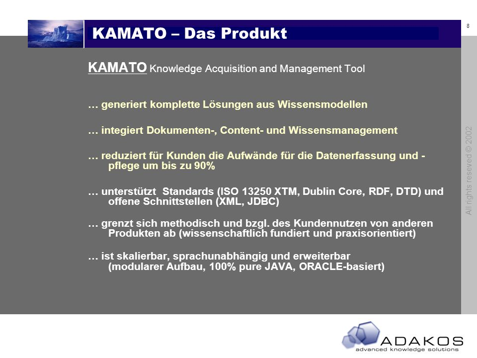 KAMATO – Das Produkt KAMATO Knowledge Acquisition and Management Tool