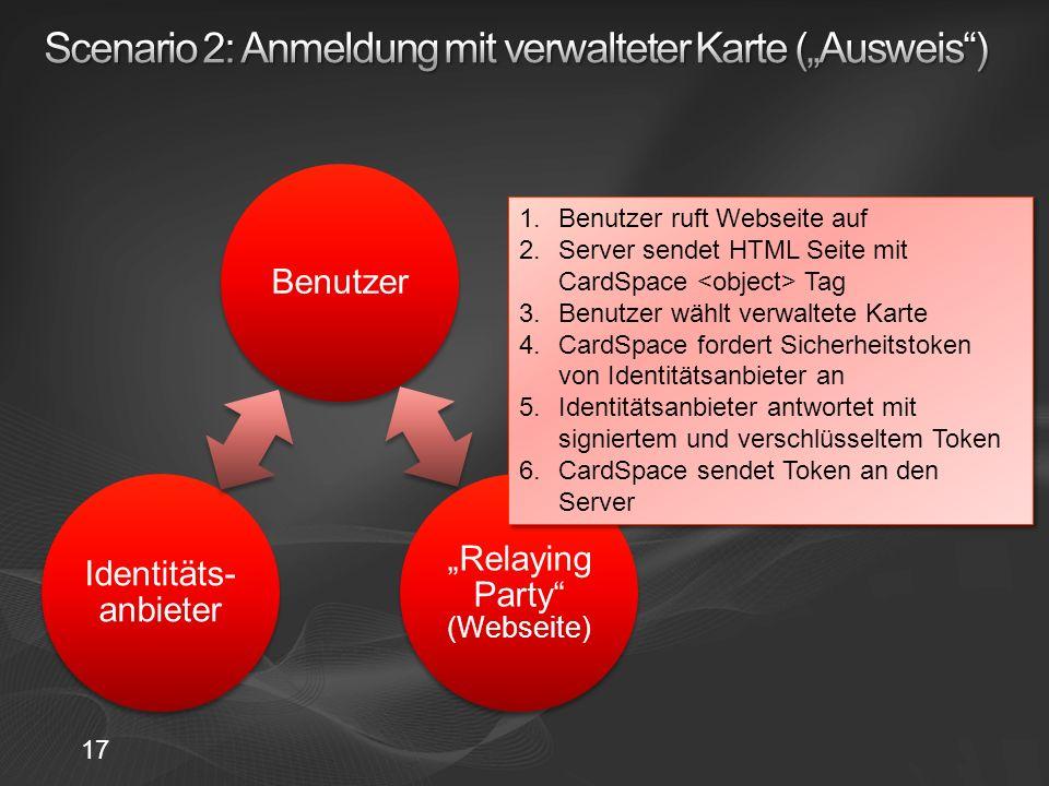 """Scenario 2: Anmeldung mit verwalteter Karte (""""Ausweis )"""