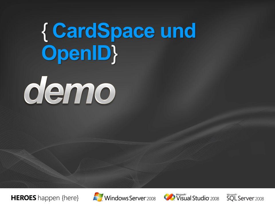 { CardSpace und OpenID}