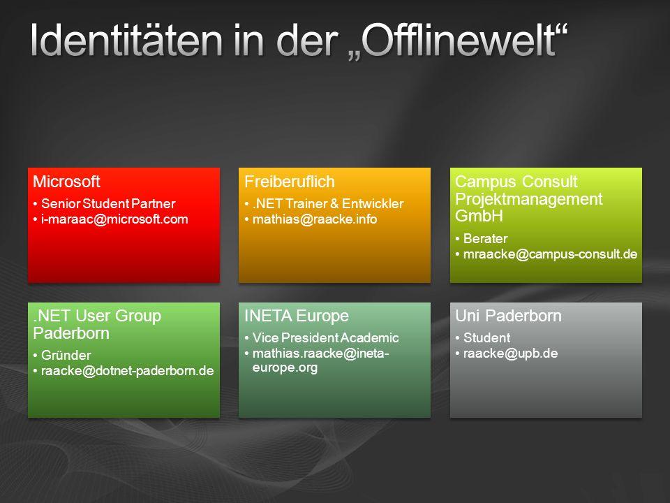 """Identitäten in der """"Offlinewelt"""