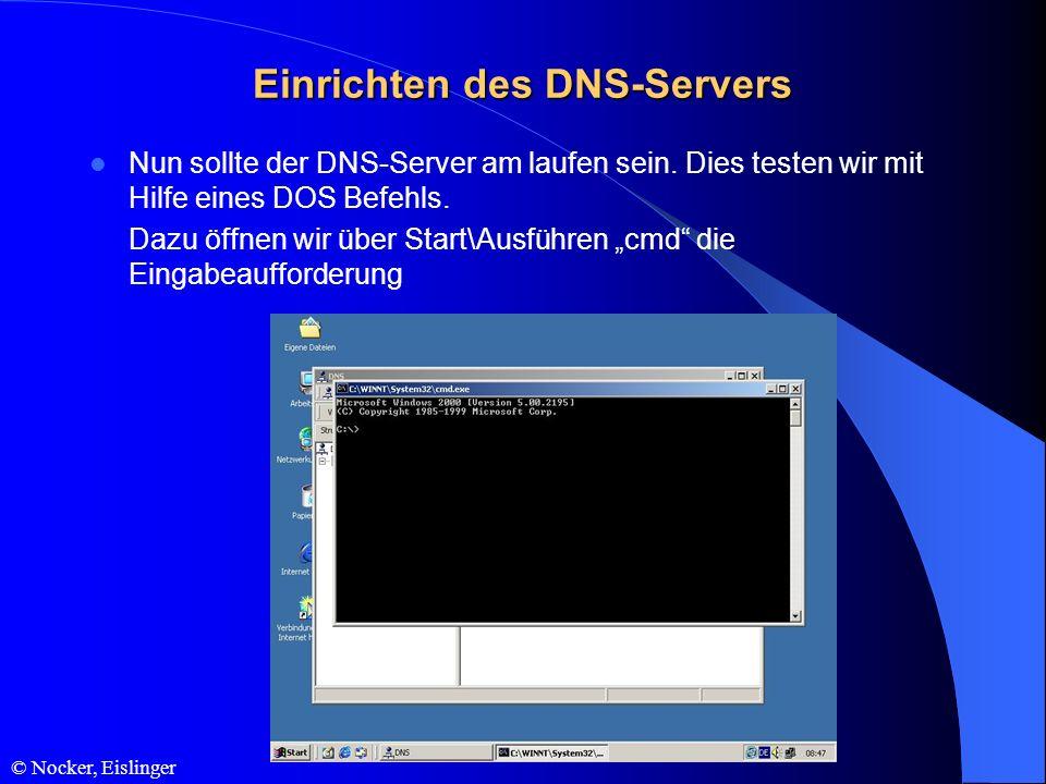Einrichten des DNS-Servers