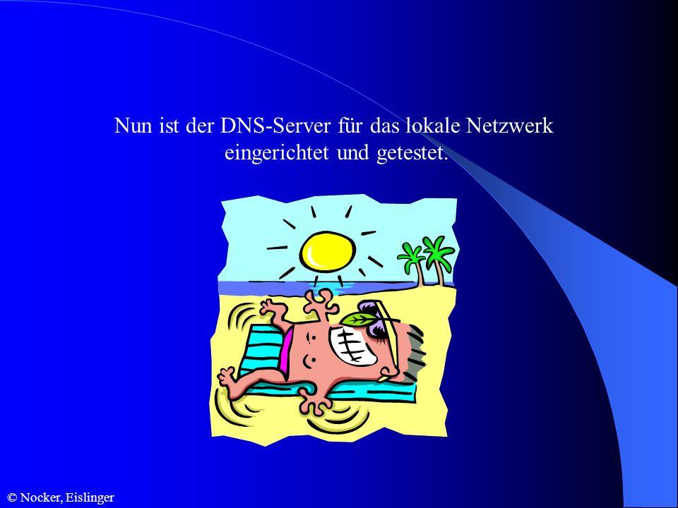 Nun ist der DNS-Server für das lokale Netzwerk