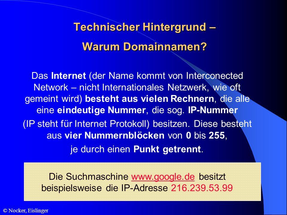 Technischer Hintergrund – Warum Domainnamen