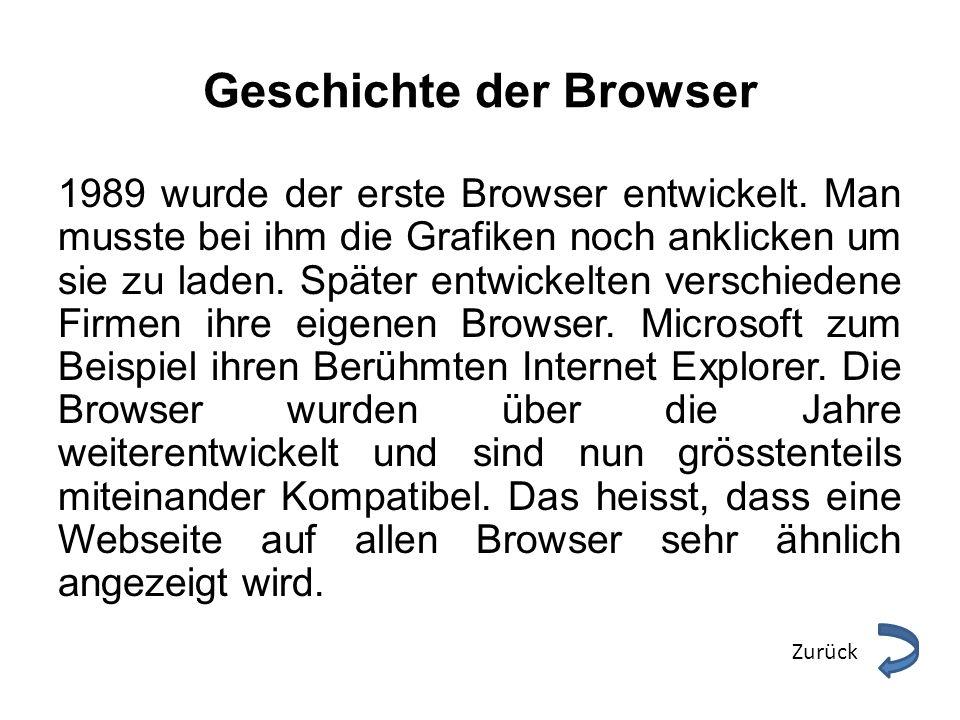 Geschichte der Browser