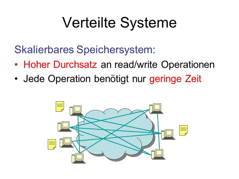 Verteilte Systeme Skalierbares Speichersystem: