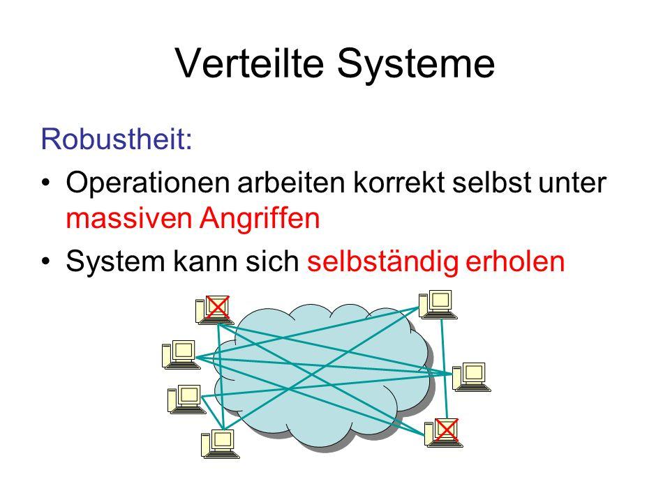 Verteilte Systeme Robustheit: